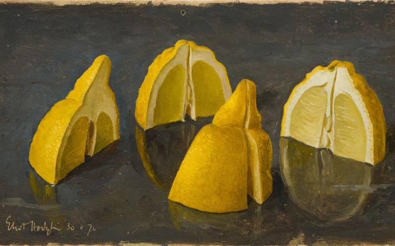 1972, One Lemon Quartered, Eliot Hodgkin. Image (c) Waddesdon (Rothschild family)