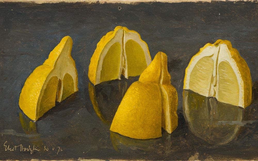 Painting of One Lemon Quartered by Eliot Hodgkin