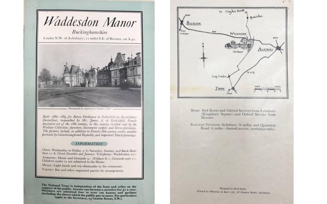 Visitor information leaflet from 1959