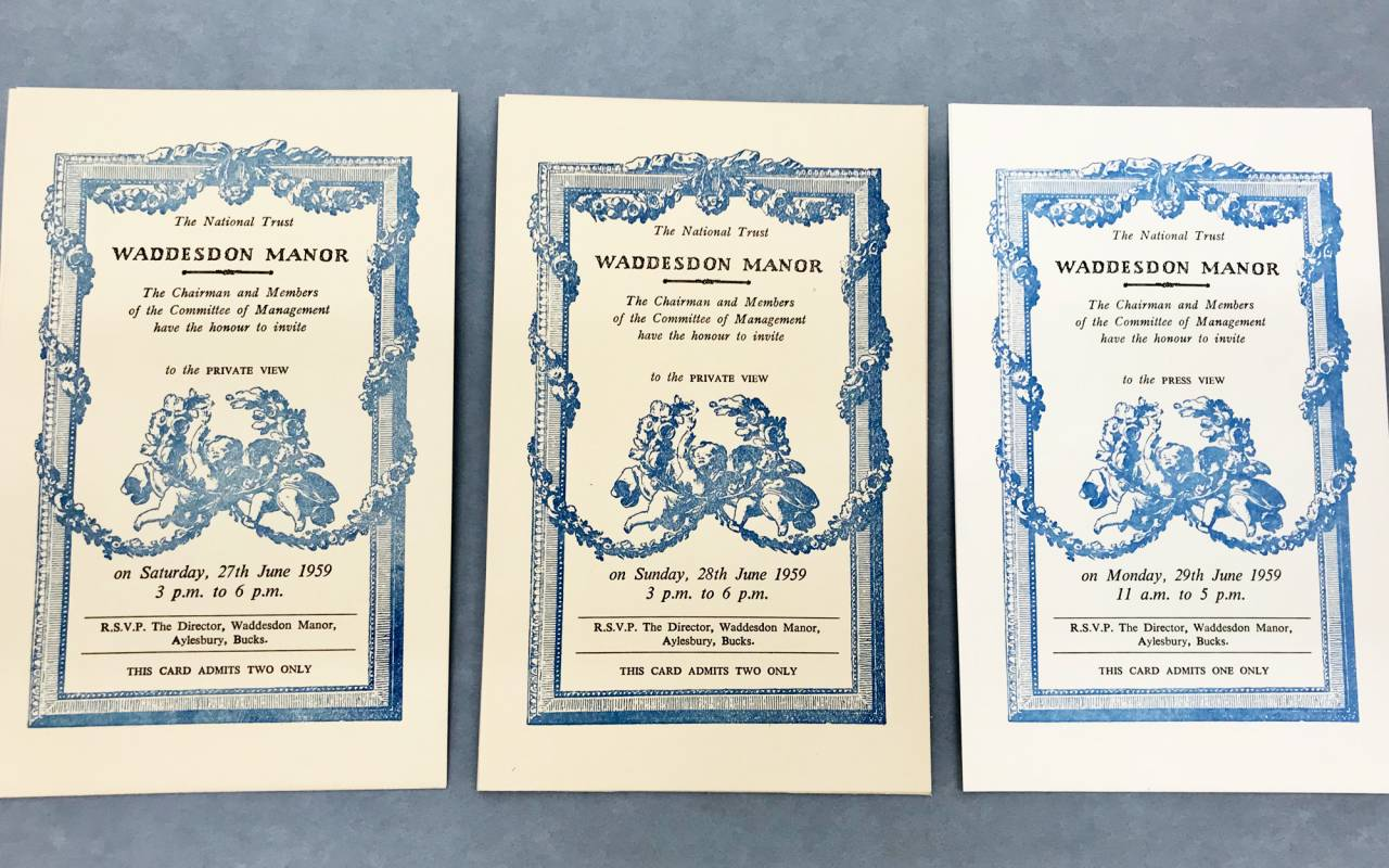 Invitations to the private openings in 1959