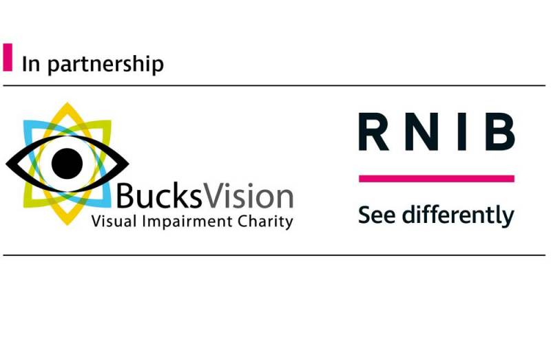 The BucksVision logo, a local charity supporting people with sight loss