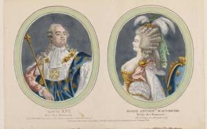 Dual Portrait Print of Louis XVI and Marie-Antoinette