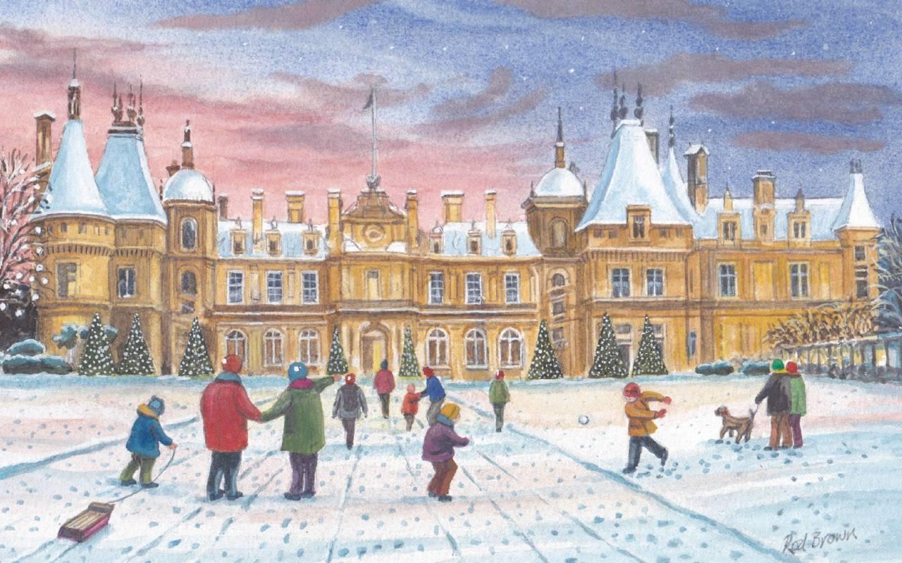 Florence Nightingale Christmas card, designed b y Rod Brown
