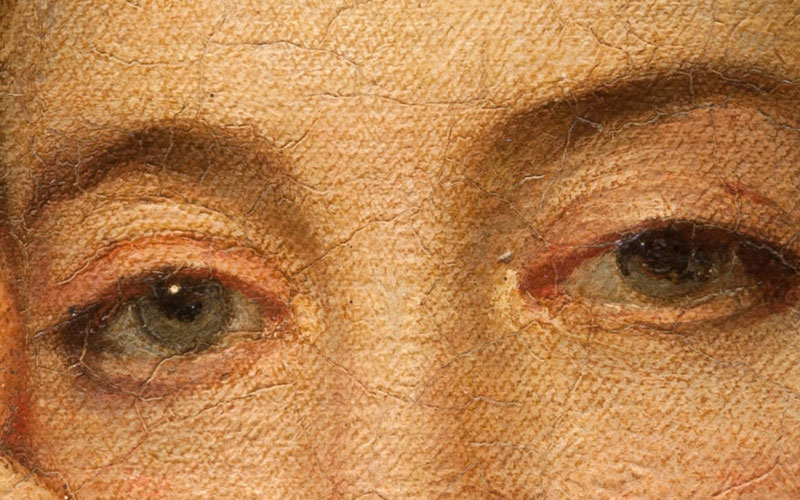 Eye detail from the duchess of cumberland by joshua reynolds
