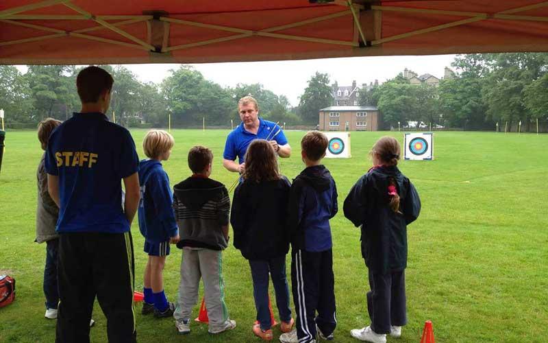 Childrens archery session