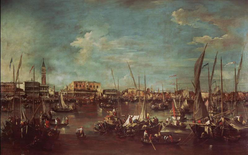 Francesco Guardi, The Bacino di San Marco with the Molo and the Doge's Palace, Venice