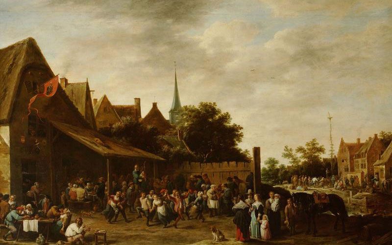 David Teniers II, A Village Wake on St. George's Day