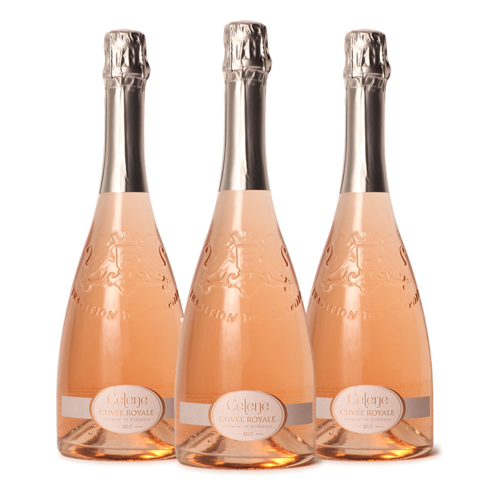 Cremant de Bordeaux Rosé Cuveé Royale three bottle case