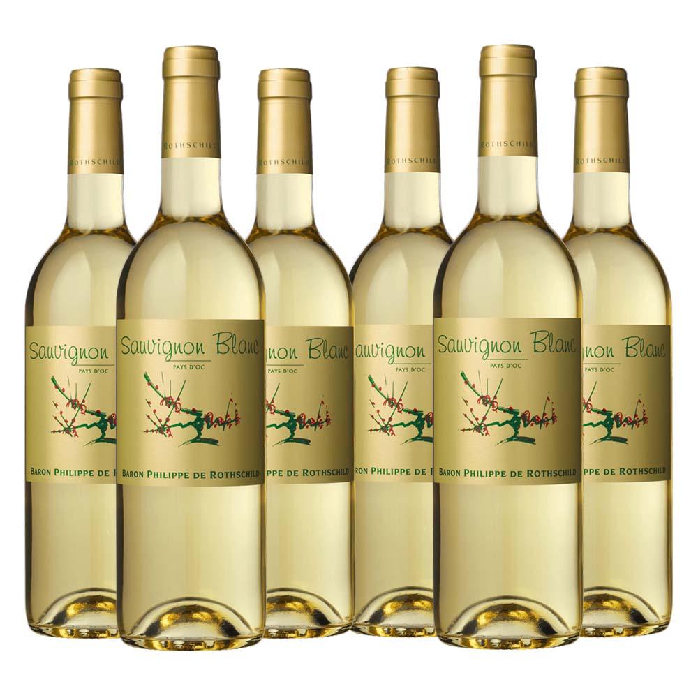 Pays d'oc Sauvignon Blanc gold label 6 bottle case