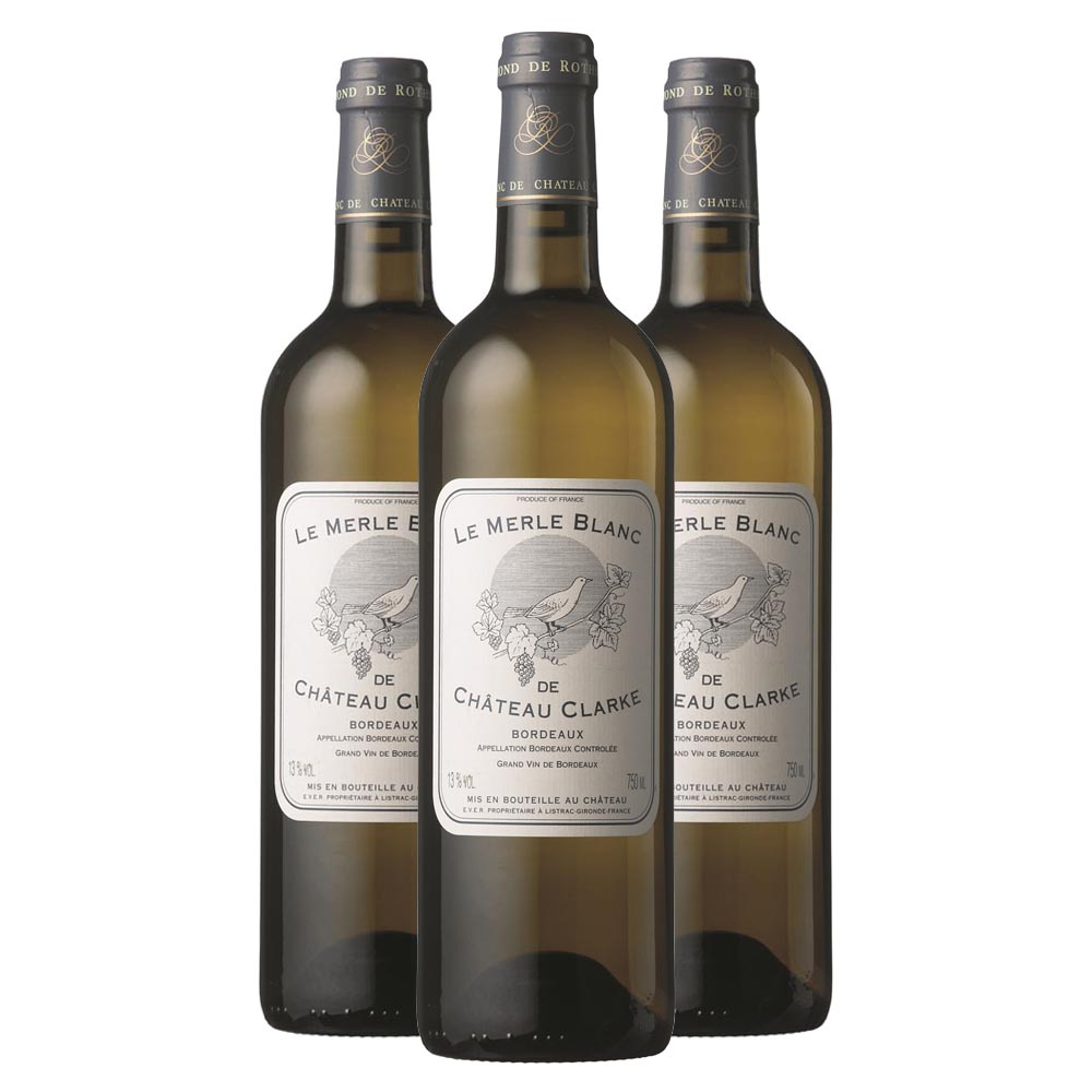 Chateau clarke le merle blanc three bottle case