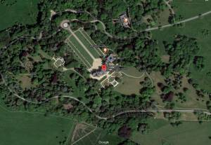 Google map aerial view of Waddesdon Manor