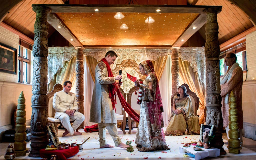 Hindu wedding ceremony at the Dairy, Waddesdon