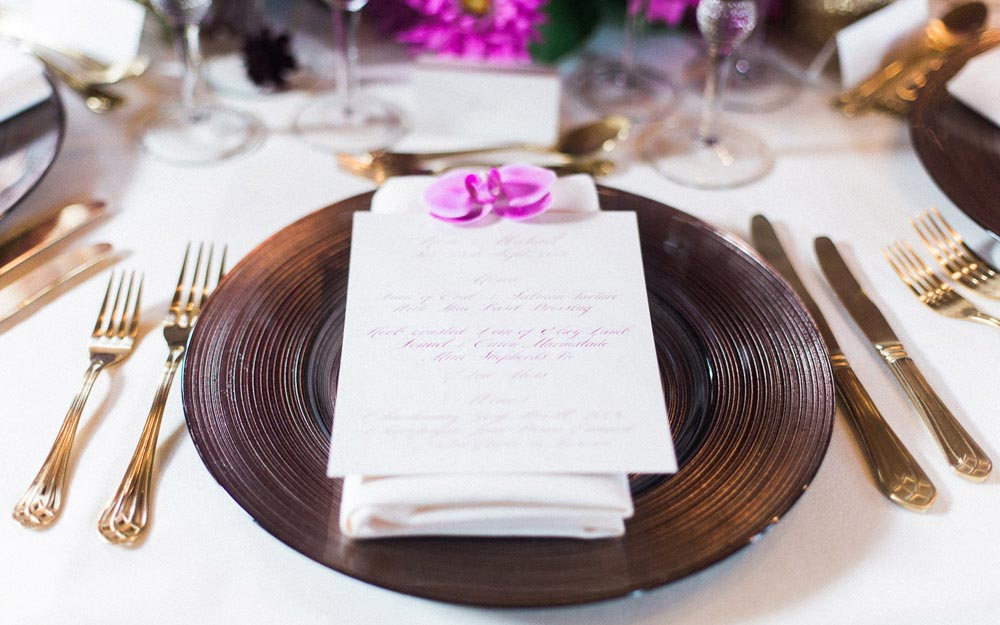 Table setting at Wedding Inspiration Day