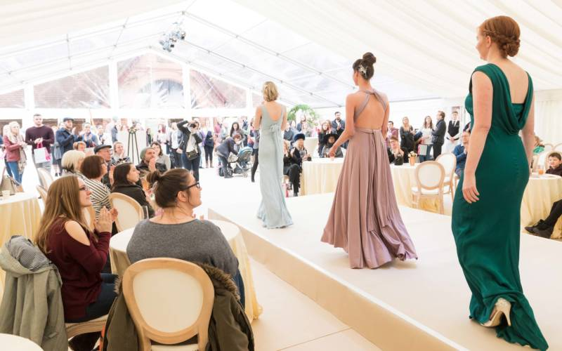 Ellie Sanderson bridal catwalk show at Waddesdon Wedding Inspiration
