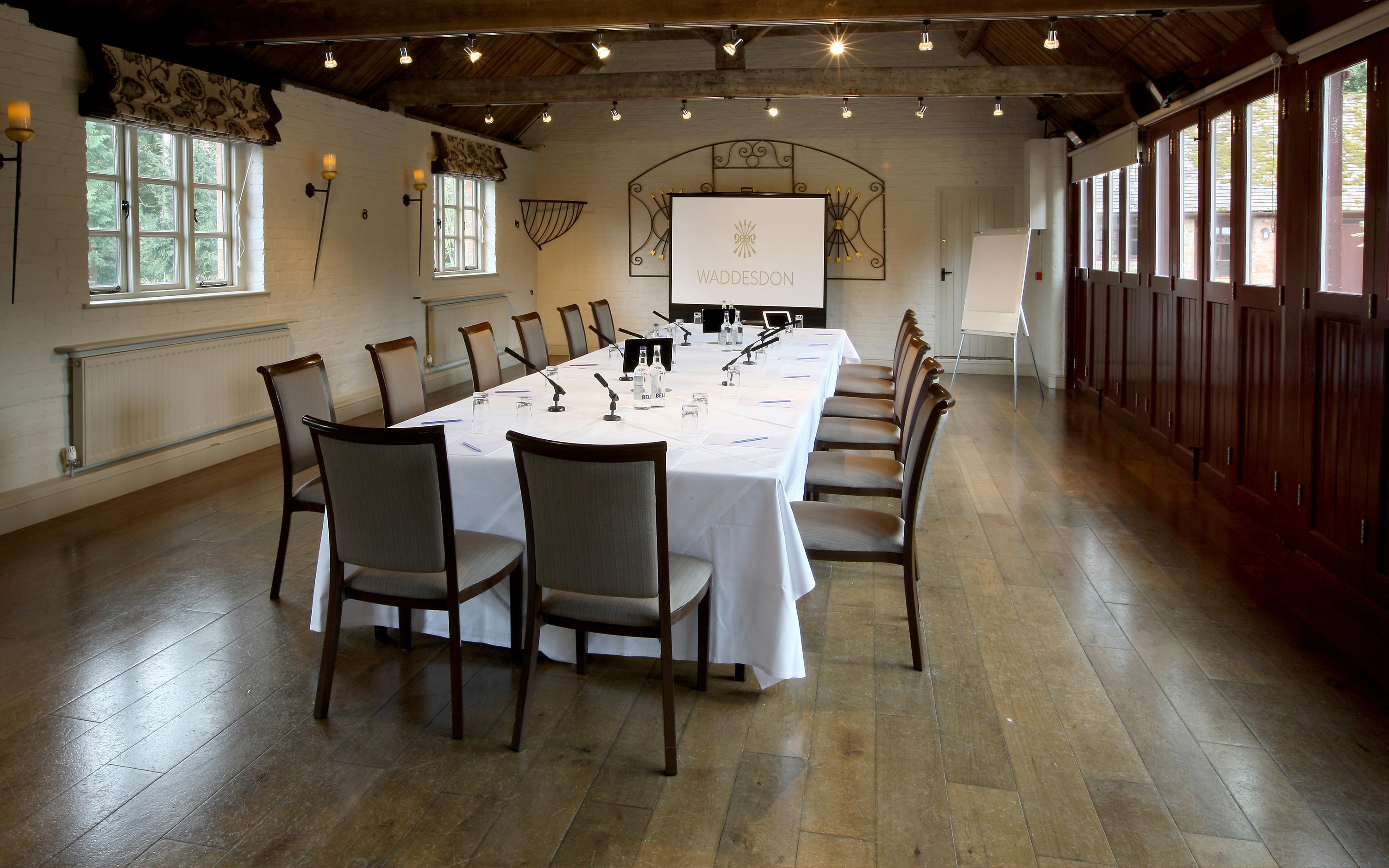 Old Coach House set up for a meeting
