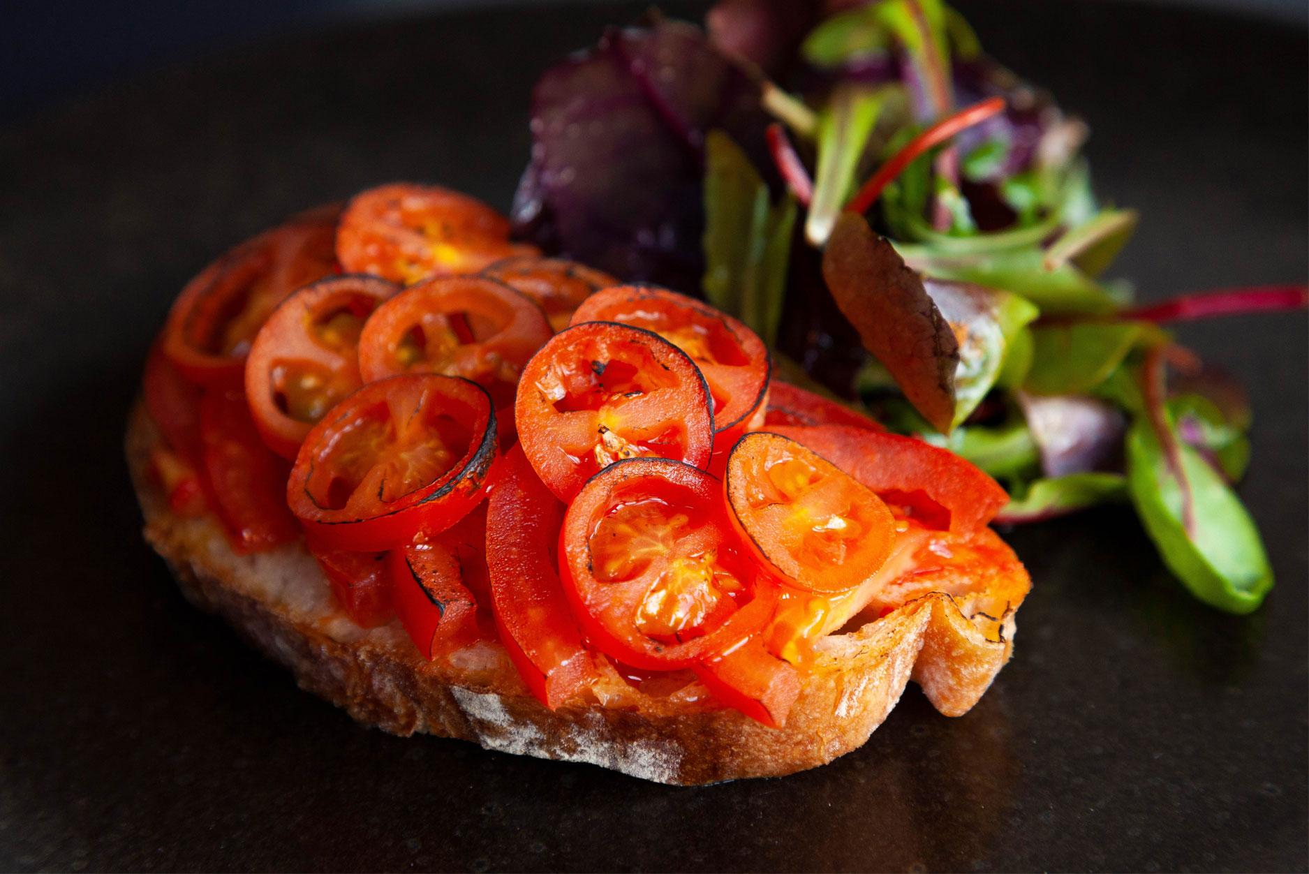 Tomatoes on sourdough
